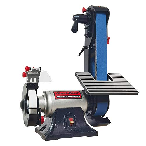 Bucktool Combo 2' x 42' Belt Sander 6' Bench Grinder, Knife Sharpener with Large Work Table BG2600 Upgraded Model