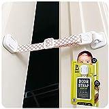 Door Buddy Child Proof Door Lock with Adjustable Strap. No Need for Baby Gate with Pet Door. Baby Proof Door to Litter Box Room. Cats Enter Easily. Installs in Seconds and is Simple to Use. (Caramel)