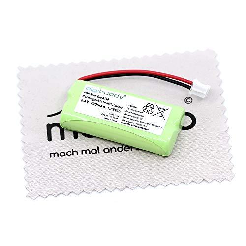Batería de repuesto para Siemens Gigaset A12, A14, A16, A24, A26, A120, A140, A140 Trio, A140 blanco, A140 Duo, A145, A160, A165, A165 con paño de limpieza mungoo