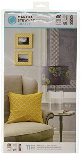 Martha Stewart Large Stencils 3 Sheets/Pkg-Arabesque 8.75'X16.75' 11 Designs