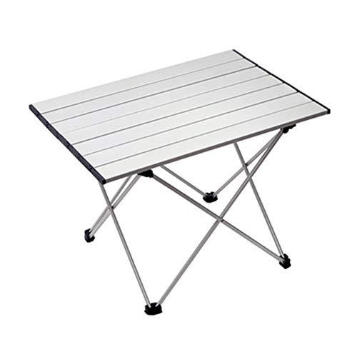QJJ Beliebt Outdoor-Klapptisch tragbar Ultra-Light Aluminium-Tisch Picknick Camping Grilltisch Freizeitmöbel Einen Kauf wert