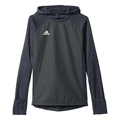 adidas Unisex dziecięca bluza Tiro 17 Warm Top szary Dkgrey/Black/White 128