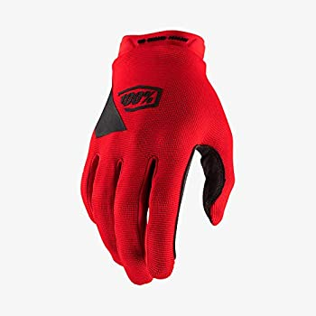 100% RIDECAMP Youth Motocross & Mountain Bike Gloves - MTB & MX Racing Protective Gear  YOUTH MD - RED