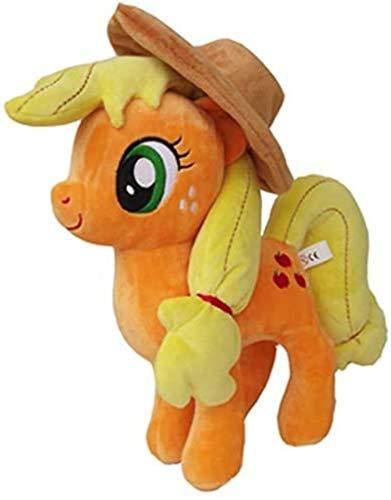 SongJX-Love Gzzxw Peluche Juguete Grandes Ojos Unicornio Apple Jack Caballo Peluche Muñeca Peluche Animales Niños Juguetes 12'30 cm
