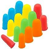 CKANDAY 15 pcs Confezione in silicone per colla a caldo per pistola, 5 colori proteggi dita o colla a caldo in resina per colofonia con miele adesivi Scrapbooking per cucire in 3 taglie