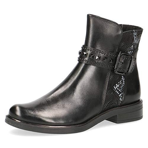 CAPRICE Damen Stiefeletten 25368-23, Frauen Stiefelette, leger Stiefel Boot halbstiefel Bootie reißverschluss Dame-n Lady,Black Snake,5 UK / 38 EU
