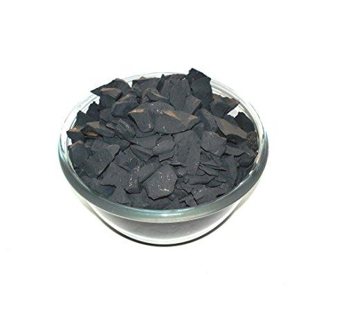 Karelian Heritage Pierres d'eau de shungite régulières pour purification et détoxification Noir 180 g
