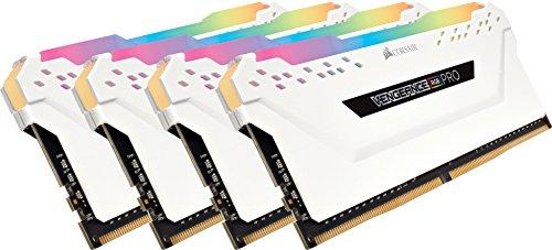 CORSAIR VENGEANCE RGB PRO 32GB (4x8GB) DDR4 3200MHz C16 LED Desktop Memory - White