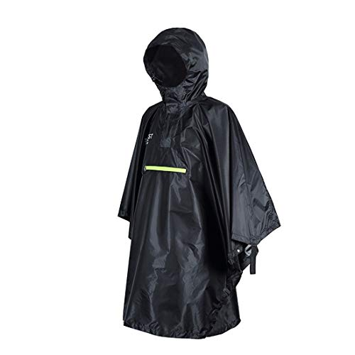 YUUY Outdoor raincoat, camping mountaineering riding poncho, travel mat, camping tent, rain shelter (Color : Black)