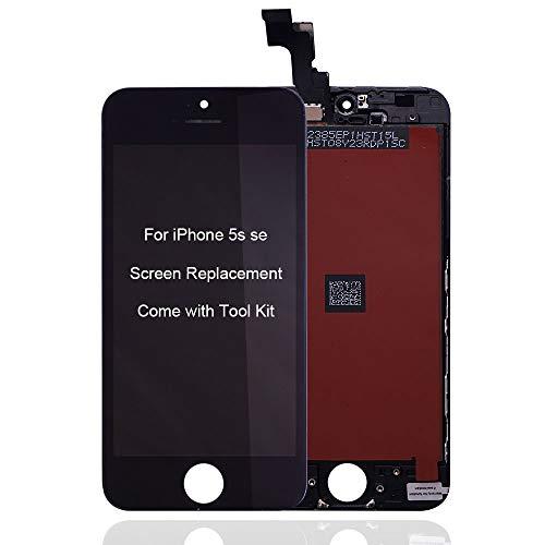 VANYUST Display per iPhone 5s se Schermo LCD Touch Screen Digitizer Parti di Ricambio Utensili Inclusi (Nero)