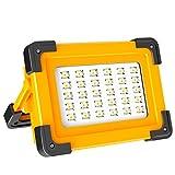 Faro Luce LED Portatile 60W T-SUNRISE LED Lampada da Lavoro Ricaricabile Impermeabile 3 Modalità Regolabili Faretto LED da esterno per cantiere campeggio