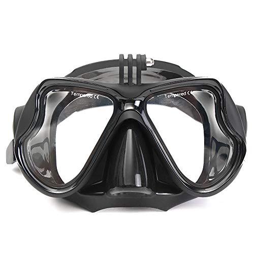 Vobajf Maschera di Immersione Montaggio Telecamera Diving Mask Oceanic Scuba Snorkel Occhialini da Nuoto Occhiali con Il Supporto della Macchina Fotografica Maschera Snorkeling