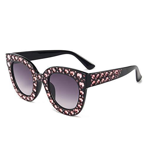 NBJSL Gafas de sol cuadradas de cristal para mujer Protección Uv400 Gafas de sol Exquisito embalaje de regalo