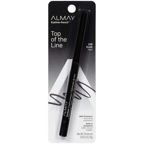 Almay Eyeliner Pencil, Black [205], 0.01 oz (Pack of 2)