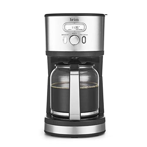 Brim 14 Cup Programmable Coffee Maker, Quickly Brew Rich Full-Bodied Coffee, Conveniently Program 24...