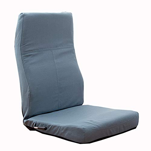 LJFYXZ Canapé Paresseux Chaise Chaise Simple Fainéant 14 Angles réglables Lavable Confortable et Respirant Multicolore en Option (Couleur : Bleu Clair)