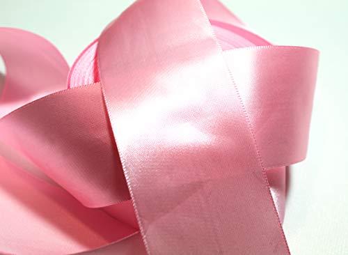 CaPiSo 22m Satinband 50mm Breite Schleifenband Geschenkband Dekoband Weihnachten Hochzeit (Rosa, 22m)