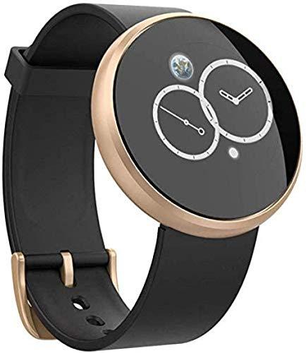 hwbq Reloj inteligente resistente al agua con monitor recordatorio de llamada de sueño con texto de encendido automático pantalla de reloj inteligente para hombres y mujeres-oro