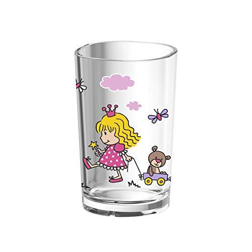 Emsa Kinder-Trinkglas Kids, 0,2 Liter, Motiv: Princess