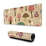 XCNGG Alfombrillas de ratón Encantadoras y Coloridas de Setas de 31,5 x 11,8 Pulgadas de Ancho y Alfombrilla de ratón Larga para Mujer para Ordenador/portátil