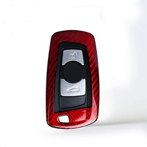 Zjxfff Cubierta de la Caja de la Llave del Control Remoto del Coche de Fibra de Carbono, para BMW E46 E39 E90 E36 E60 F30 F10 E34 E30 F20 Accesorios Protectores