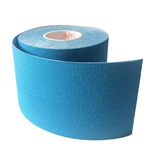 HUDNNFO Sport Kinesiologie Band 12pcs / Lot Kinesiology Tape-athletischer Sport Tapes wasserdichte Knie Schulter Knöchel Ellenbogen Pflaster zur Übung (Color : Sky Blue, Size : 5cmx5m)