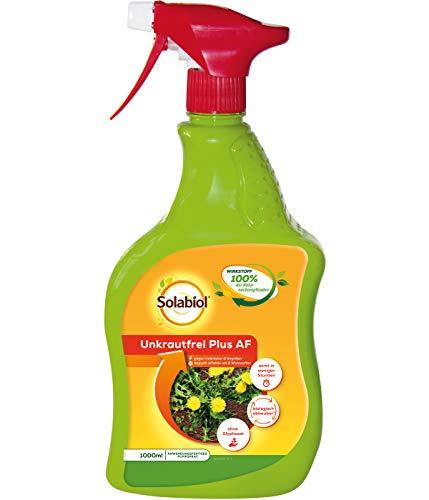 Solabiol Unkrautfrei Plus AF, anwendungsfertiger biologischer Unkrautvernichter, 1 Liter Sprühflasche