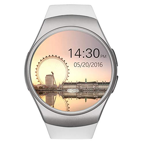 ZWW KW19 Damen Smart Watch Herrenmode Herzfrequenz-Monitor Blutdruck Übung Fitness Tracker Mit Android IOS Handy,A