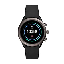in budget affordable Fossil Men's Sports Smartwatch with Metal and Silicone Touchscreen for Heart Rate Measurement, Colors: Gray, Black…