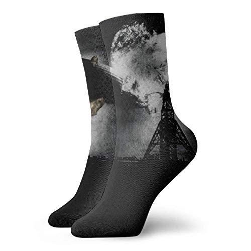 Atomic Bomb Perezoso - Calcetines largos (30 cm, algodón), diseño atlético
