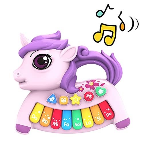 Multifunctional Musical Electronic Piano Toys for Toddlers, Unicorn Musical...