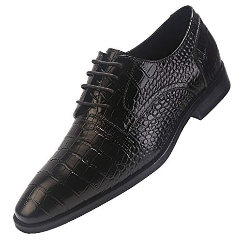 Genuine Leather Crocodile Pattern Shoes for Men