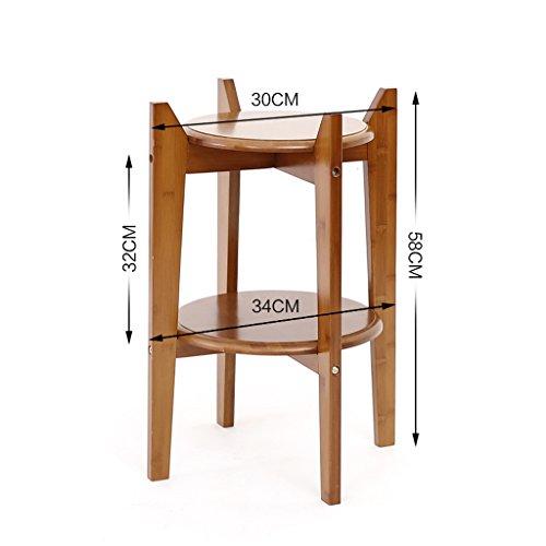 Étagères BOBE Shop- Poteaux en Bambou Salon Multiples Style européen Balcon Porte-Fleurs Stockage (Taille : 58cm)