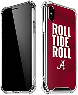 Skinit Clear Phone Case for iPhone Xs Max - Officially Licensed College Alabama Roll Tide Roll Design