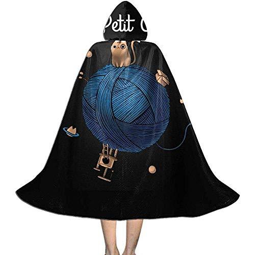 Niet van toepassing Capuchon Cape, Unisex Cosplay Rol Kostuums, Volwassen Robe Mantel, Le Petit Chat Halloween Party Decoratie Bovenkleding, Witch Wizard Mantel, Vampier Mantel