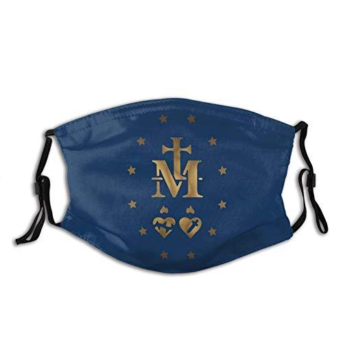 Hirola Medalla Milagrosa de Nuestra Señora de Gracia Transpirable Cara Cuello Polaina Cara Bufanda Mask-Dust, Transpirable Pesca Senderismo Correr Ciclismo