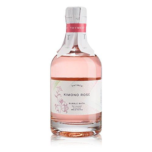 Thymes - Kimono Rose Bubble Bath - Soft Foaming Bath Soak with Vanilla Rose Scent - 11.5 oz