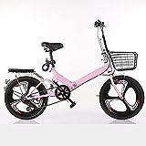 Bicicleta Plegable, 20 Pulgadas De Mujer Ultraligera Portátil Y Femenina Adulto Pequeña Variable De Velocidad De La Bicicleta,D