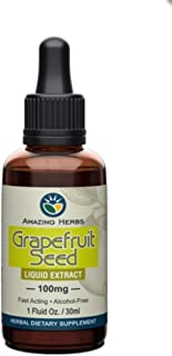 Amazing Herbs Grape Fruit Seed Extract, 1 Fluid Ounce