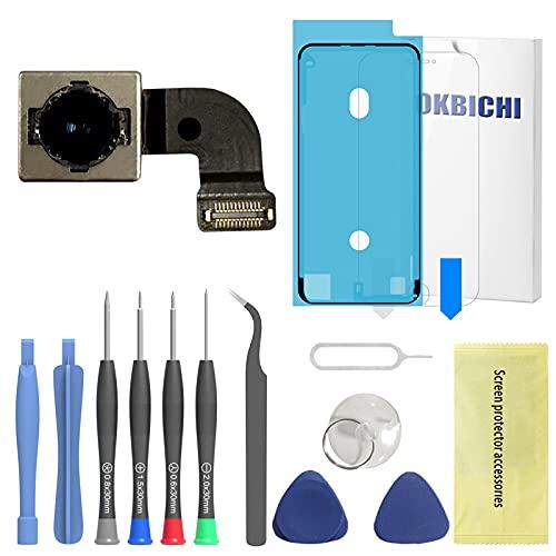 OKBICHI Cámara trasera para iPhone 8 (todos los transportistas) Módulo de cámara trasera Flex Cable Reemplazo - Herramientas de reparación con protector de pantalla y sello impermeable