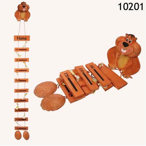 Holz-Messlatte Murmeltier bis 150 cm, handgemacht Out of blue KG 10201