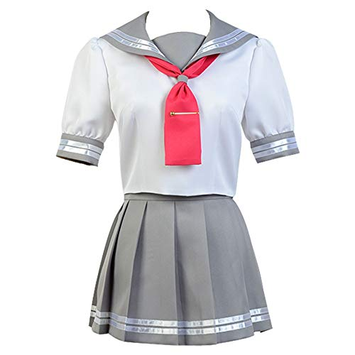 Cosplaybar Cosplay Costume LoveLive! Sunshine!! Aqours Takami Chika Anime Uniform Female L