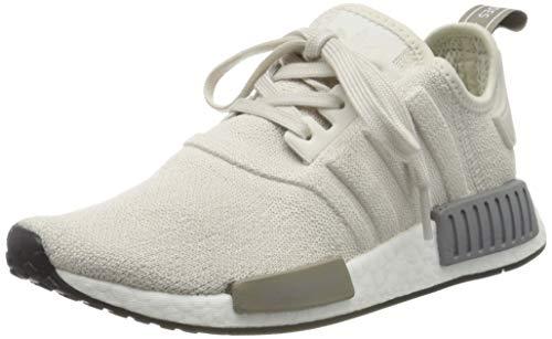adidas Damen NMD_r1 W Gymnastikschuhe, Weiß (Raw White/Raw White/Core Black Raw White/Raw White/Core Black), 42 2/3 EU