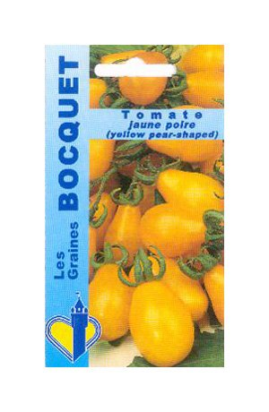 Les Graines Bocquet - Graines De Tomate Jaune Poire Yellow Pearshaped - Graines Potagères À Semer - Sachet De 0.5Grammes