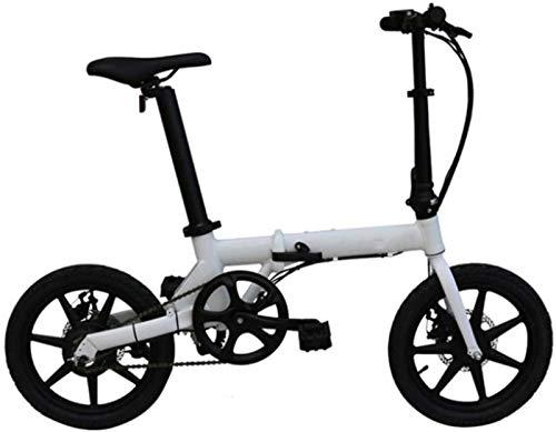 Bici electrica, 16 pulgadas bicicletas plegables eléctricos, de aleación de aluminio de bicicletas inteligentes pantalla LCD del instrumento de cristal líquido del sistema de crucero ACS ciclo al aire
