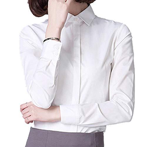New Spring and Autumn bügelfrei elastisch ol Professional White Shirt Damen Langarm...