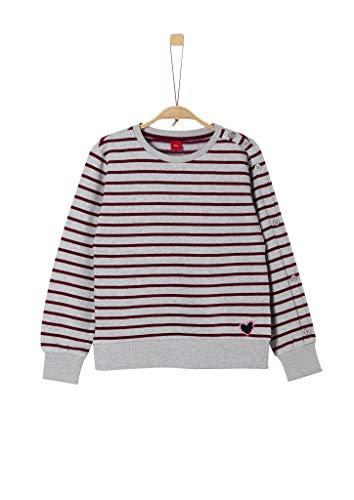 s.Oliver Mädchen 66.909.41.2438 Sweatshirt, Grau (Light Grey Melang Stripes 94g5), 152 (Herstellergröße: M/REG)