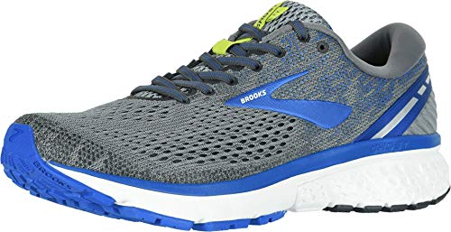 Brooks Men's Ghost 11 Grey/Blue/Silver 8 EEEE US