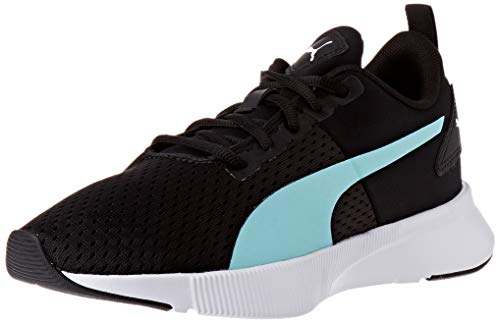 PUMA Flyer Runner Sport, Zapatillas para Correr de Carretera Unisex Adulto, Negro Black/Aruba Blue White, 38.5 EU