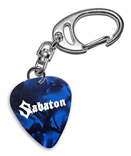 Sabaton Band Logo Gitarre Plektrum Blue Pearl Keyring Schlüsselanhänger (H)